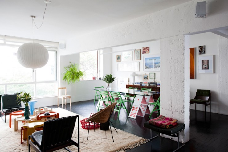 """""""Apartamento de Maurício Arruda, pormenor da sala.""""  DECORAÇÃO: O lar de Maurício Arruda em São Paulo Apto Mauricio Arruda e1350642888670"""