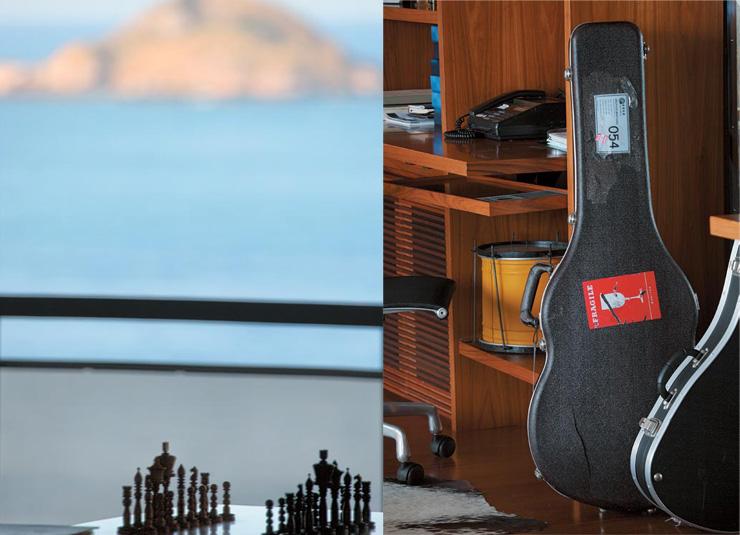 """""""Detalhe do apartamento de Gilberto Gil.""""  Decoração: O apartamento carioca de Gilberto Gil  Diptique11"""