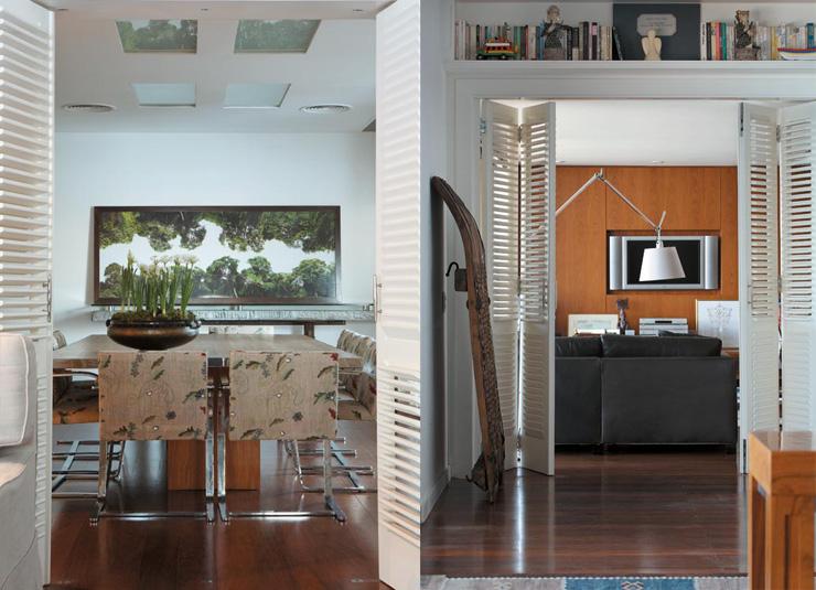 """""""Portas que separam os espaços e lhes dão nova vida.""""  Decoração: O apartamento carioca de Gilberto Gil  Diptique21"""