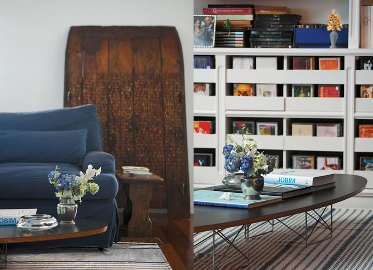"""""""Detalhe da arrumação do apartamento de Gilberto Gil.""""  Decoração: O apartamento carioca de Gilberto Gil  Diptique31"""