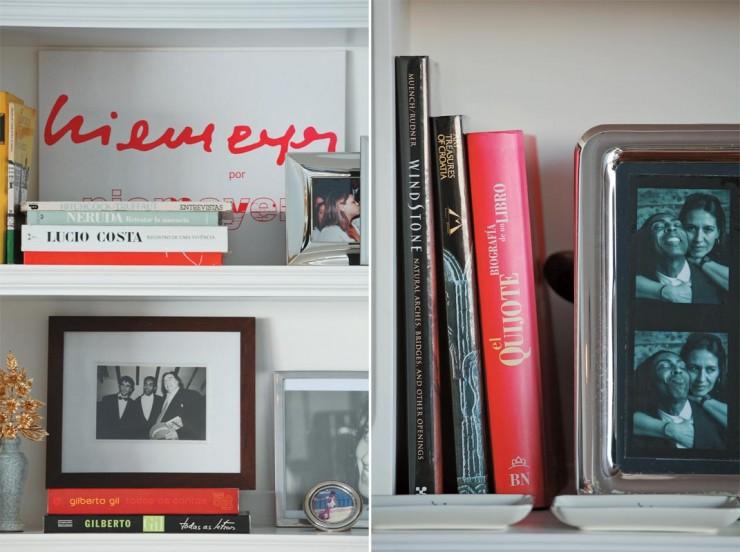 """""""Fotos e livros de Gilberto Gil.""""  Decoração: O apartamento carioca de Gilberto Gil  apartamento carioca gilberto gil 3 e1351070975997"""