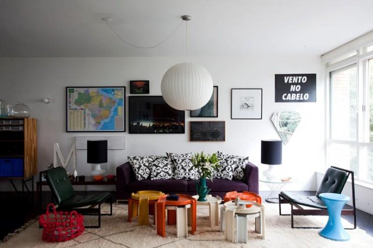 """""""Interior da Casa de Maurício Arruda em São Paulo.""""  DECORAÇÃO: O lar de Maurício Arruda em São Paulo mauricio arruda apartamento antonio carlos sao paulo 2 e1350640523630"""