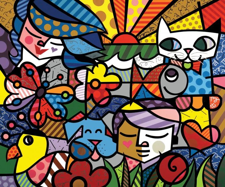 arte contemporânea brasileira Arte Contemporânea Brasileira Reconhecida Internacionalmente quadri romero britto e1349862225187