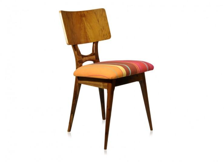 cadeira arriba tec listras vermelhas amarelo marrom  Bazar Desmobilia: móveis vintage  cadeira arriba tec listras vermelhas amarelo marrom e1352126050584