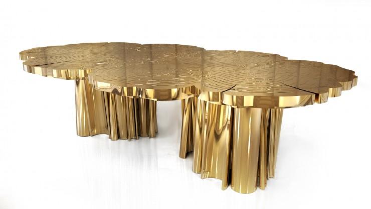 """""""Fortuna, mesa da boca do lobo toda em dourado.""""  Decoração: Mesas de Natal diferentes Fortuna 1 e1354704379751"""