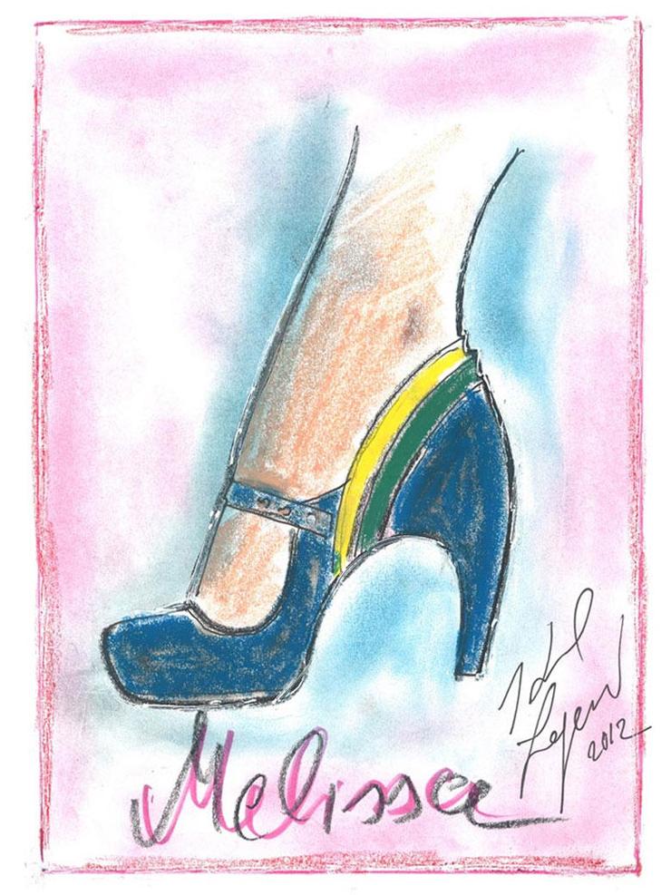 """Melissa e Karl Lagerfeld""  Melissa e Karl Lagerfeld Melissa e Karl Lagerfeld 5"