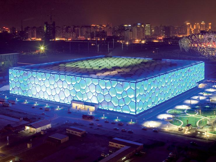 """Watercube1  """"Water Cube"""" de Beijing ganha nova iluminação na comemoração do seu 5º aniversário Watercube1"""