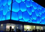 """""""Water Cube"""" de Beijing ganha nova iluminação na comemoração do seu 5º aniversário"""