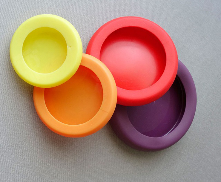 Food Huggers  Criativa tampa de silicone ajuda a preservar sobras de alimentos 2Food Huggers1