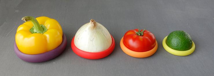 Food Hughes  Criativa tampa de silicone ajuda a preservar sobras de alimentos 3food huggers