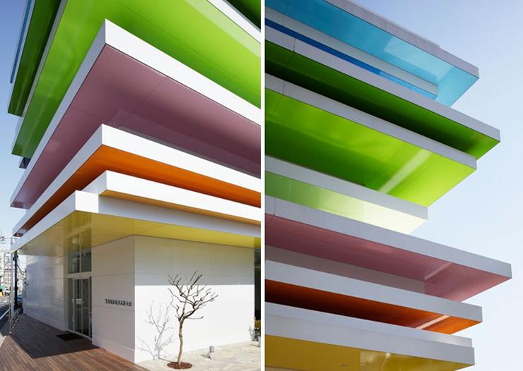 banco_sugamo_shinkin  A cor e a arquitetura banco sugamo shinkin