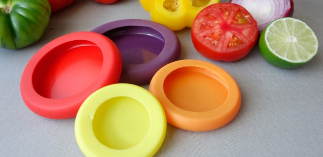 Criativa tampa de silicone ajuda a preservar sobras de alimentos