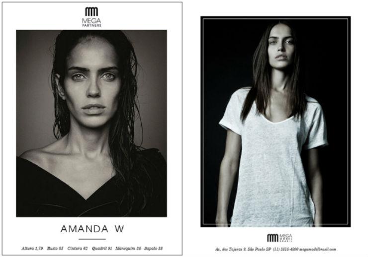 """""""Amanda Welsh, mais uma brasileira brilhando no mundo da moda.""""  SPFW: 10 manequins que marcam essa edição Amanda Welsh"""