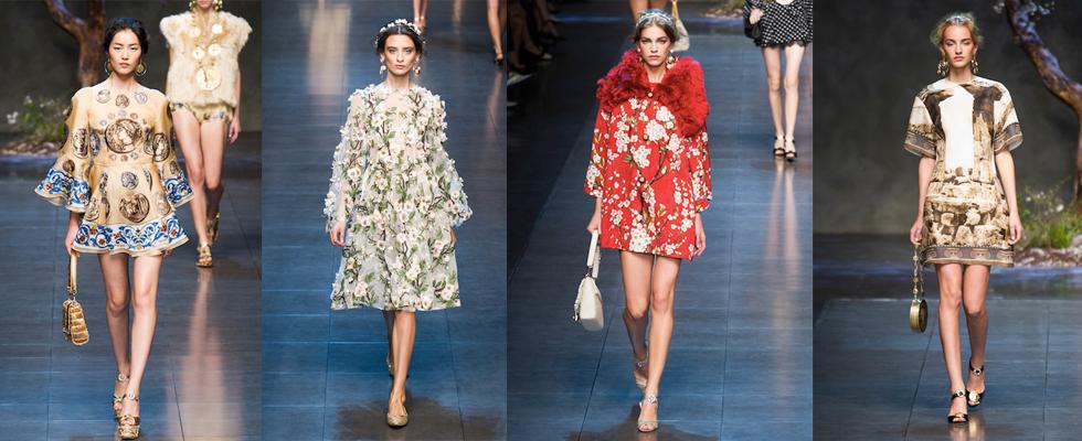 """Dolce & Gabana e seus estampadas maravilhosos.""  Moda: Milan Spring Fashion Week – Top 5 coleções! DG"