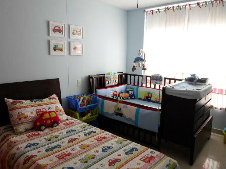 """""""Quarto partilhado de meninos."""" 15 Quartos Infantis de Sonho Decoração: 15 Quartos Infantis de Sonho Shared Vehicle Theme Boys Room"""