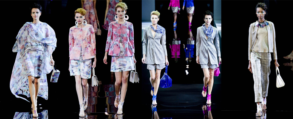 """Armani na Semana de Moda Primavera Milão""  Moda: Milan Spring Fashion Week – Top 5 coleções! armani"