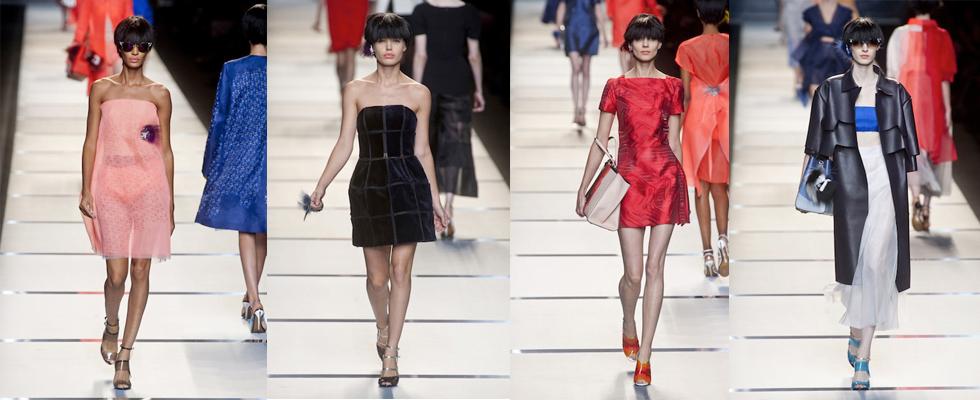 """Fendi e o estilo simples e chique.""  Moda: Milan Spring Fashion Week – Top 5 coleções! fendi"