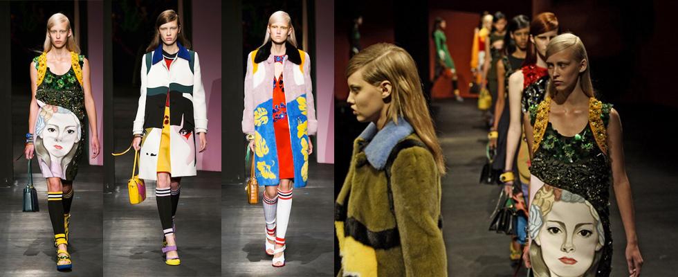 """""""Prada e a sua coleção esportiva chique.""""  Moda: Milan Spring Fashion Week – Top 5 coleções! prada"""