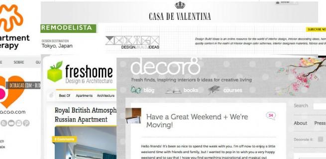 """""""Blogs de decoração de interiores que são top no Brasil e no mundo."""""""