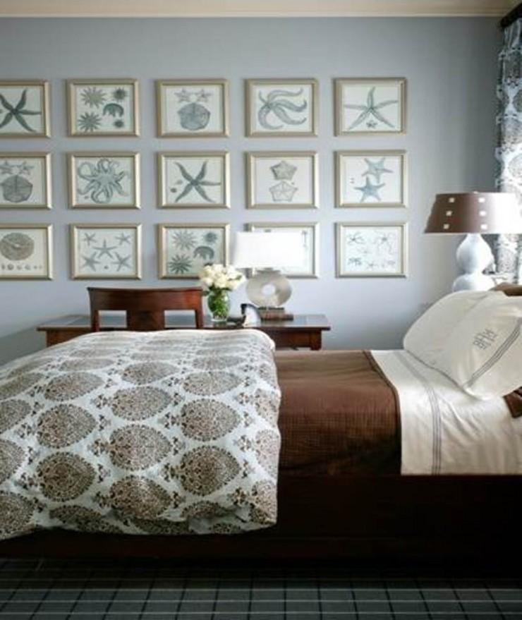 """""""Quarto de casal com tema praia.""""  Sexo na praia: 10 quartos inspirados na praia blue Nautical Bedroom Ideas e1384167523849"""