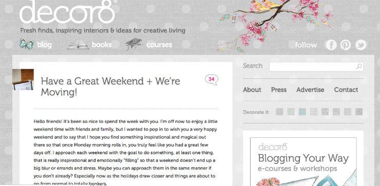 """""""Criado antes da onda dos blogs de decoração, decor8 é um sucesso mundial.""""  DECORAÇÃO: 10 blogs de decoração de interiores que valem a pena decor8blog"""