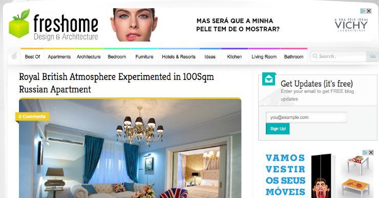 """""""Freshome dá mais destaque ao design e à arquitectura.""""  DECORAÇÃO: 10 blogs de decoração de interiores que valem a pena freshome"""