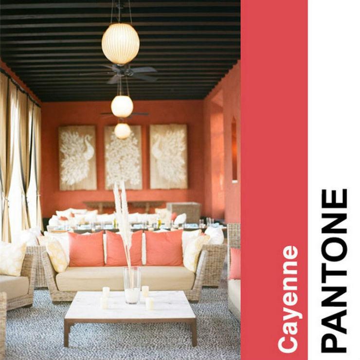 """""""Esse rosa lindo 2014""""  Decoração: Cores Pantone para 2014! pantonecayenne2014"""