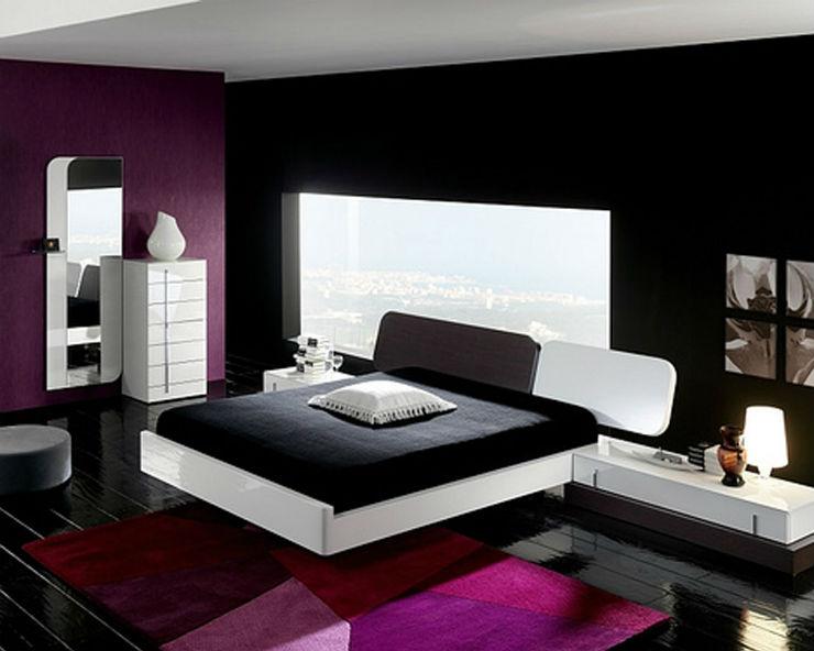 """""""Quarto em preto e rosa."""" Quartos em Tons de Preto 10 Quartos em Tons de Preto Para Apimentar a Sua Relação pink and black bedroom ideas 195"""