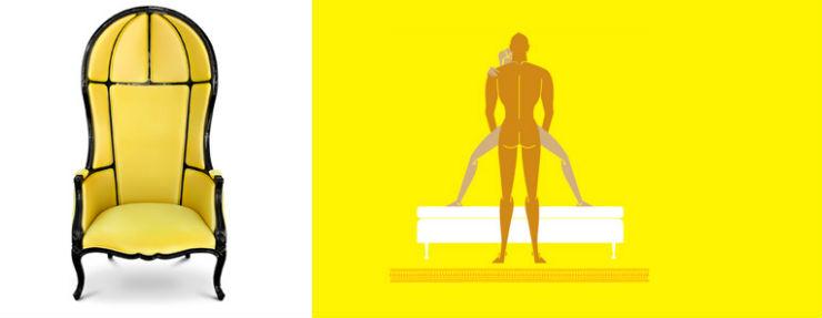 """Namib Brabbu""  Design: 6 poltronas e suas posições sexuais para 2014 CadeiraNamibBrabbu"