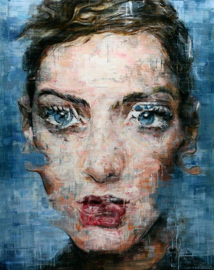 """Harding Meyer e um dos seus retratos realistas desfocados"".""  Arte & Cultura:Harding Meyer, o pintor brasileiro retratista HardingMeyer retrato5"