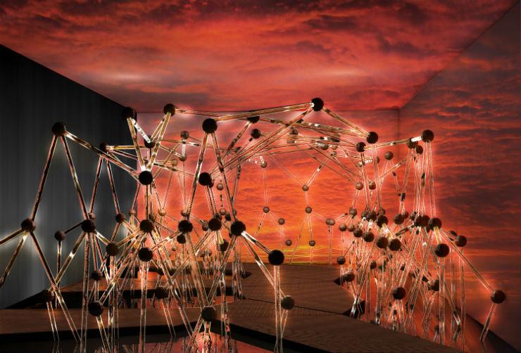 """""""Pôr-do-sol amazônico na estrutura Mangue Groove""""  Guilherme Torres colabora com Swarovski para Design Miami 2013 MangueGrooveGuilhermeTorres"""