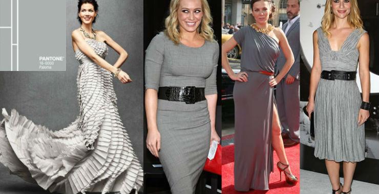 """""""Paloma cor cinza pra final de ano""""  Moda: modelos para uma passagem de ano Pantone PalomacolorPantone2014"""