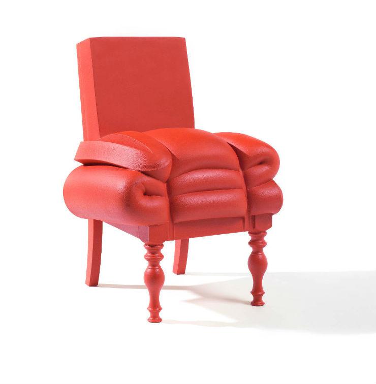 """""""Cadeirão feito de restos de colchão por Frank Willems""""  Lifestyle & Design: Quando o colchão vira arte Plus de Madam Rubens"""