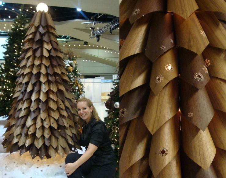 """""""Árvore de Natal feita com papel""""  Decoração: 10 Árvores de Natal exóticas arvoredenataldepapel"""