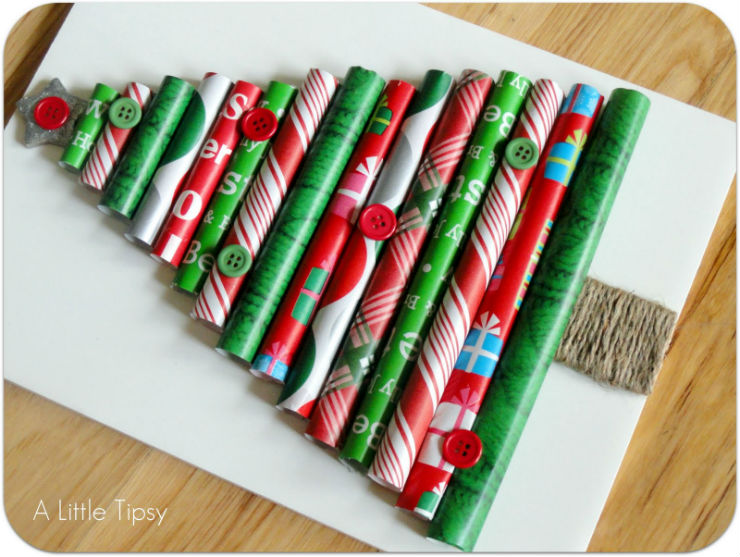 """""""Árvore de Natal feita com papel enrolado""""  Decoração: 10 Árvores de Natal exóticas arvoredenatalpapelenrolado"""