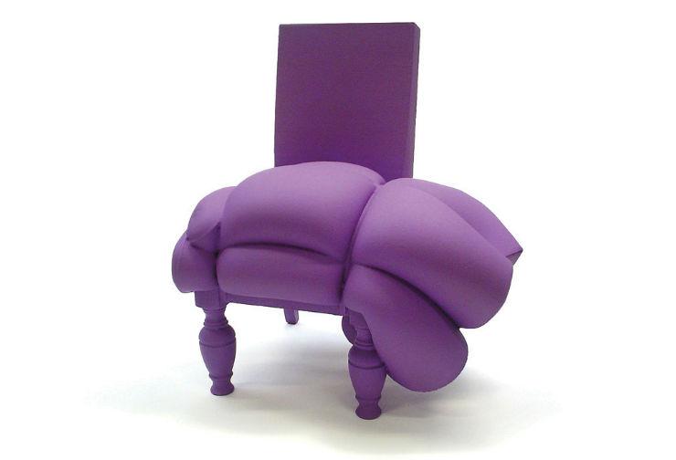 """""""Cadeirão feito de restos de colchão pelo holandês Frank Willems""""  Lifestyle & Design: Quando o colchão vira arte cadeiraocolchao"""