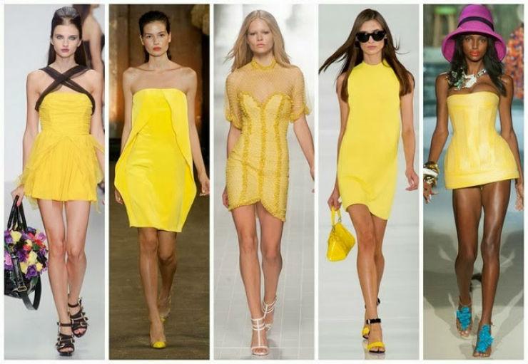 """""""Cor Pantone Freesia amarelo cor de 2014""""  Moda: modelos para uma passagem de ano Pantone freesiacorpantone"""