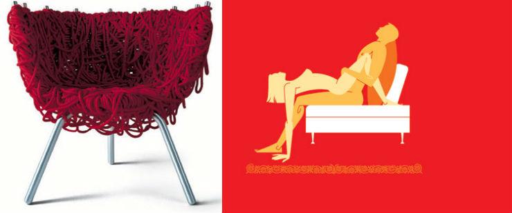 """""""Cadeira vermelha irmãos campana""""  Design: 6 poltronas e suas posições sexuais para 2014 irmaoscampana"""