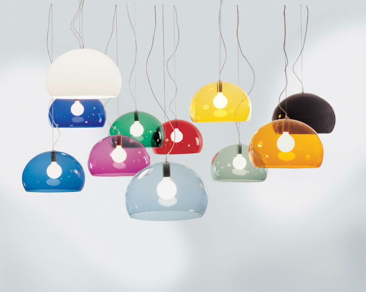 """""""kartell e suas luminárias coloridas""""  Decoração de Natal: 10 luminárias de design kartell fly lamp"""