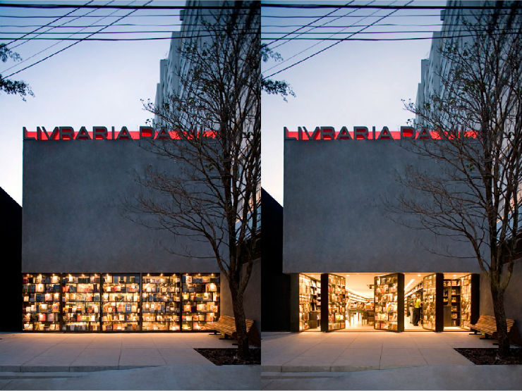 """""""Exterior da Livraria da Vila""""  Arquitetura: a livraria de sonho por Isay Weinfeld livrariadavilafachada"""