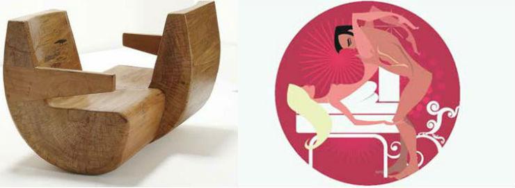 """""""Namoradeira de José Zanine""""  Design: 6 poltronas e suas posições sexuais para 2014 namoradeira"""