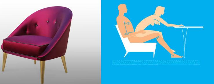 """""""Nessa Chair""""  Design: 6 poltronas e suas posições sexuais para 2014 nessachair"""