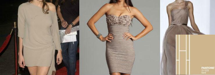 """""""Sand Color dress""""  Moda: modelos para uma passagem de ano Pantone sandcolor"""