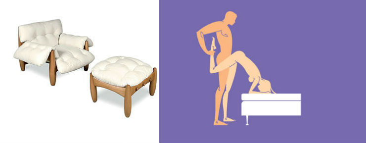 """Sergio Rodrigues poltrona mole""  Design: 6 poltronas e suas posições sexuais para 2014 sergiorodrigues"