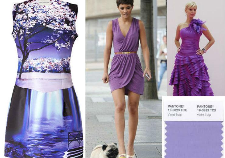 """""""Violet Tulip Pantone color 2014""""  Moda: modelos para uma passagem de ano Pantone violet"""