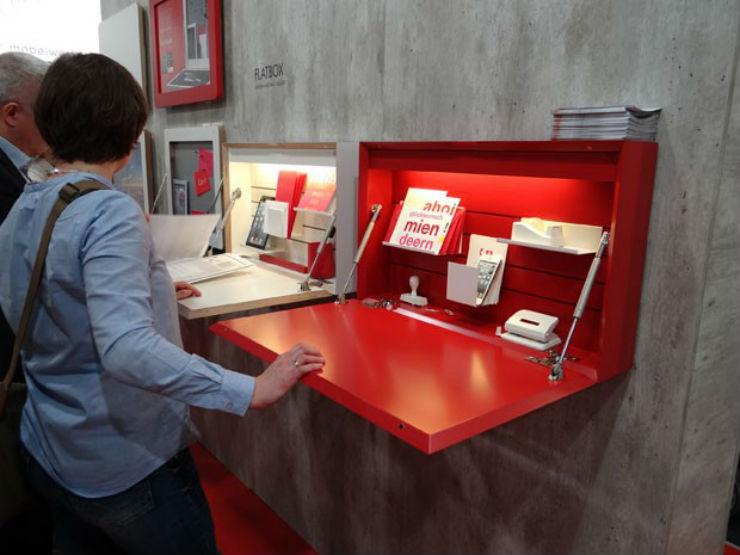 """""""peças da Müller Möbelwerkstätten são ideais para espaços pequenos, já que possuem vários compartimentos para acessórios e gadgets.""""  Design: os 10 melhores da IMM Cologne 2014 IMM4"""