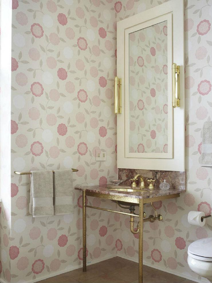 """""""Banheiro de menina com papel de parede!""""  15 ideias de decoração com papel de parede banheiromeninacompapeldeparede"""