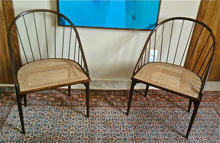 """""""Cadeiras Curvas de Joaquim Tenreiro""""  Design: Joaquim Tenreiro, o mestre do design brasileiro cadeirasvurvasJoaquimTenreiro"""