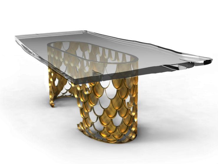 """""""Mesa de jantar Koi da Brabbu""""  Design: 5 mesas inspiradas na natureza koibrabbu"""