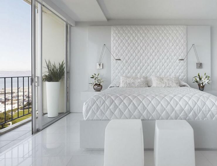 """""""Quarto branco almofadado""""  Decoração:10 quartos brancos mark english architects"""